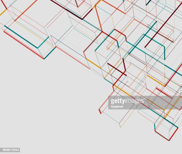 abstract city building - architecture stock illustrations