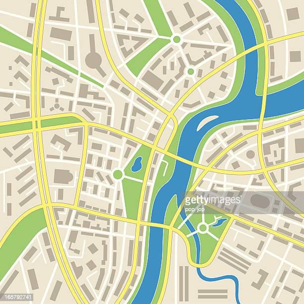 Abstrakte Stadt Karte