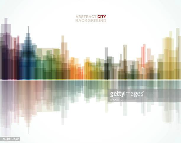abstract city pattern background - architecture stock illustrations, clip art, cartoons, & icons