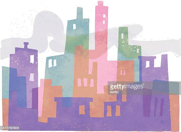abstract city - loft apartment stock illustrations, clip art, cartoons, & icons