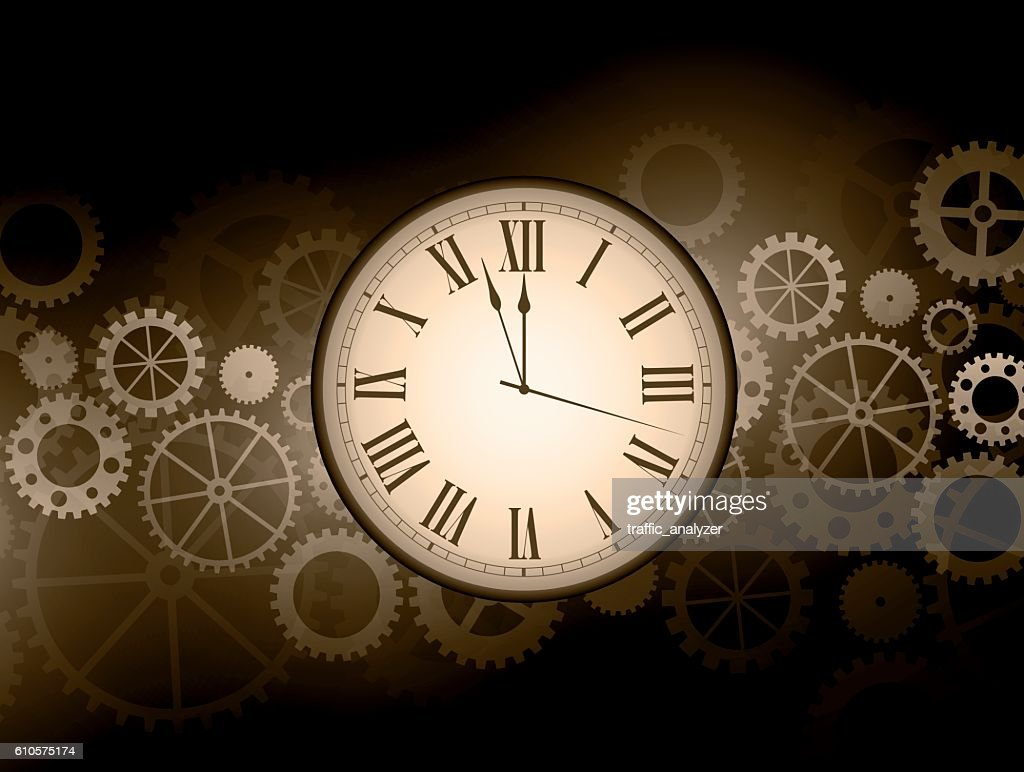 Abstract clock background : stock illustration