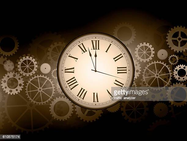 abstract clock background - gearshift stock illustrations, clip art, cartoons, & icons
