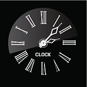 Abstract Clock Illustration