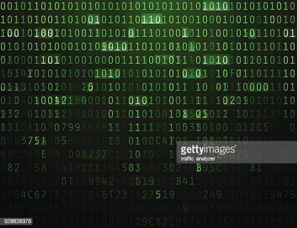 illustrazioni stock, clip art, cartoni animati e icone di tendenza di sfondo astratto codice - codice binario