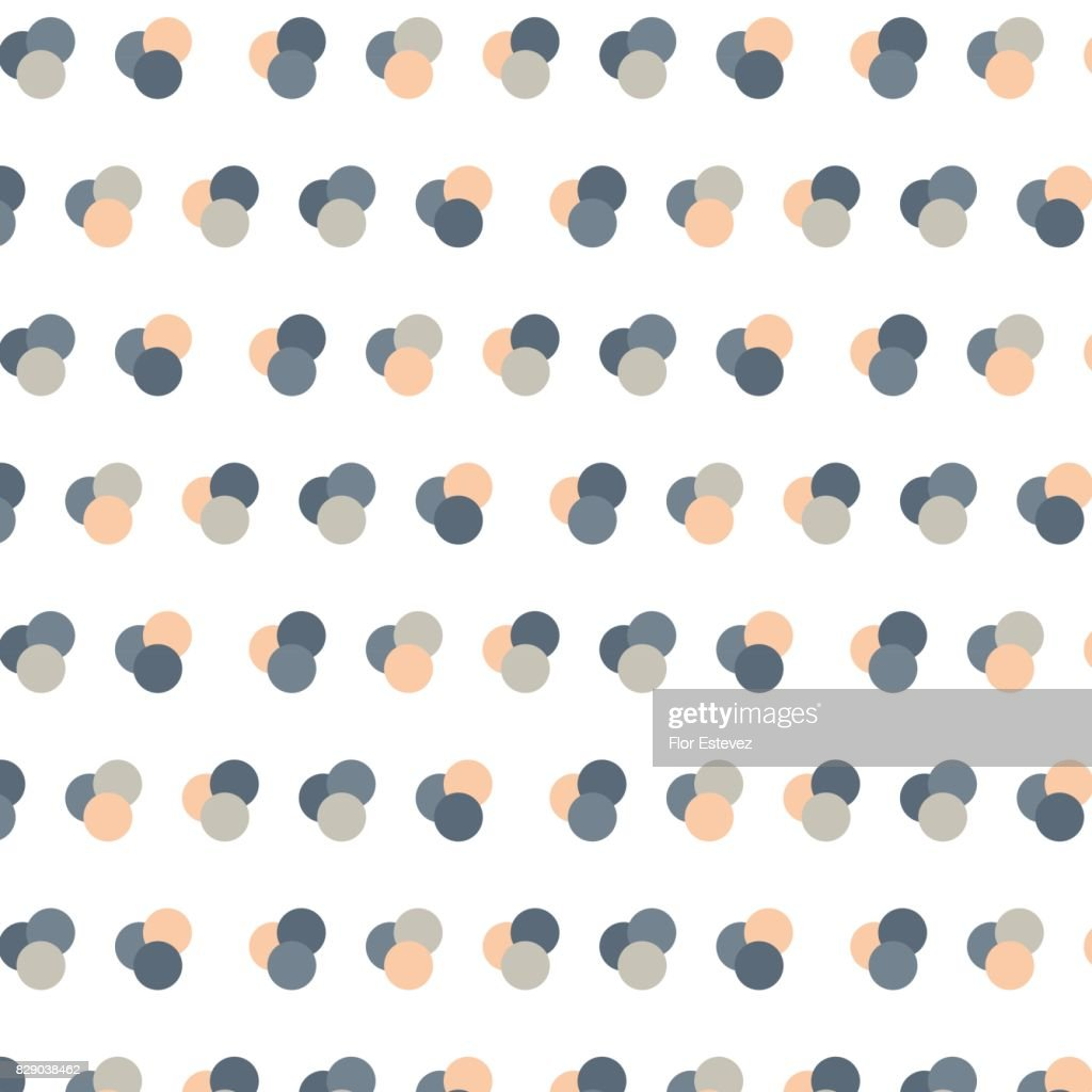 abstract collection, dotted seamless pattern