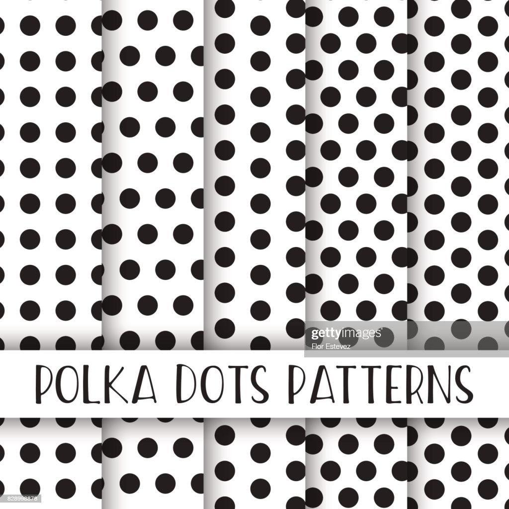 abstract collection polka dots seamless pattern pack