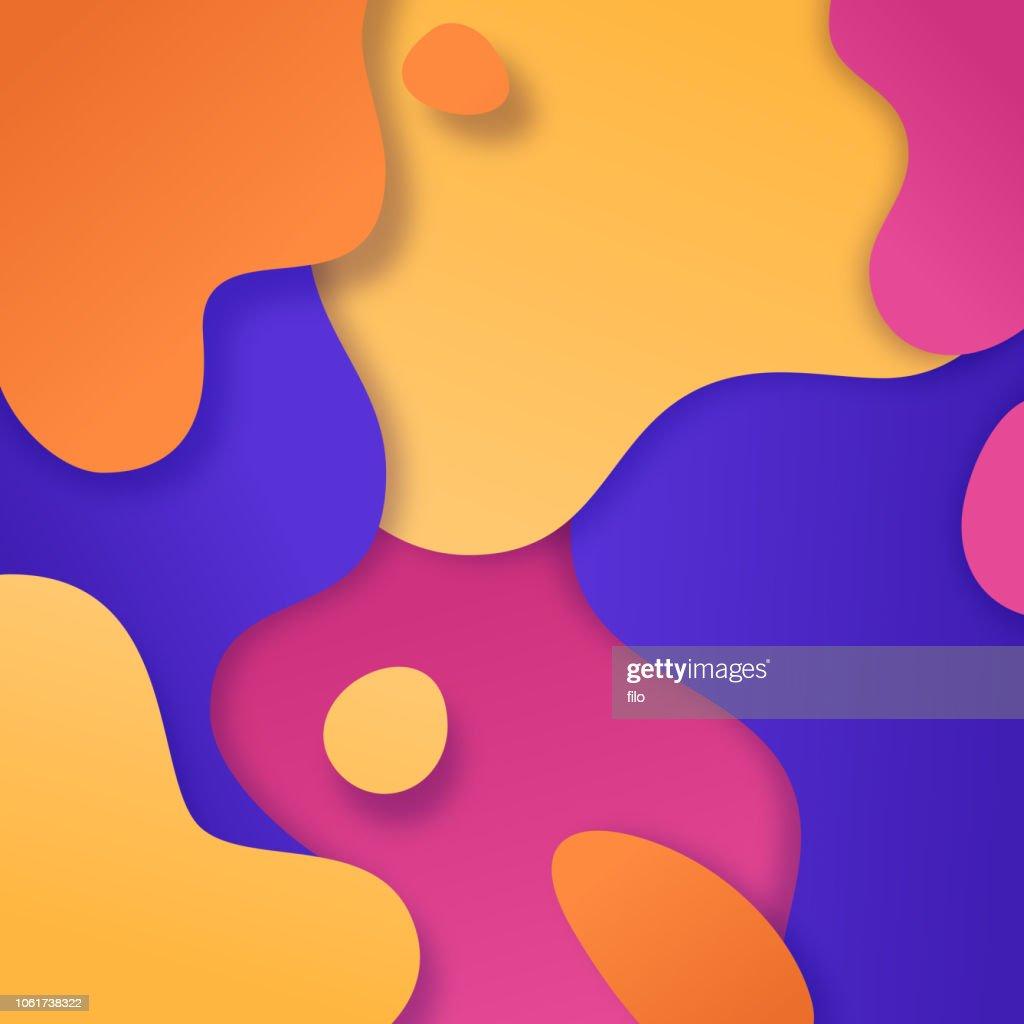 Blob の抽象的な色の背景 : ストックイラストレーション