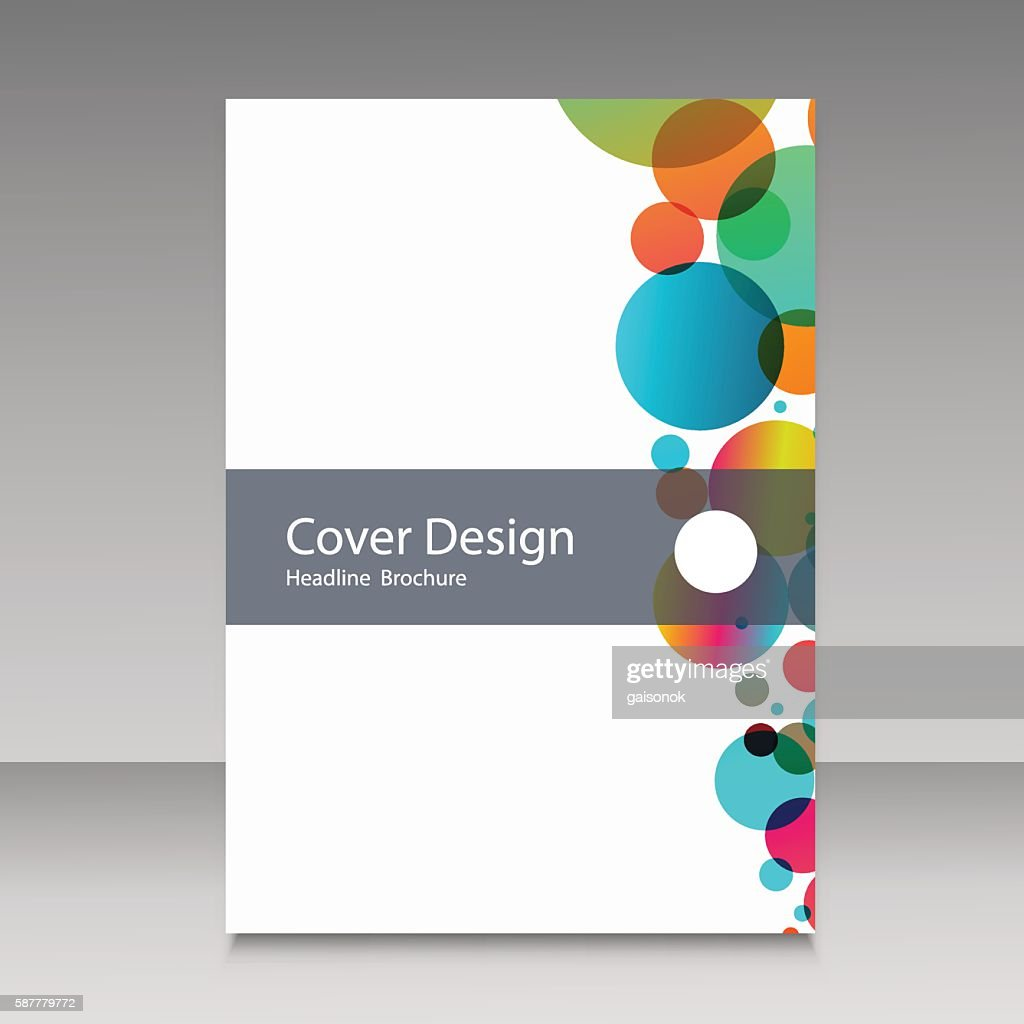 Abstract color circles. Cover design template