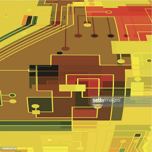 abstract color circuit board pattern background