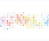 abstract color dot technology pattern background