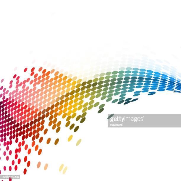 抽象カラーのドットパターンの背景に設計