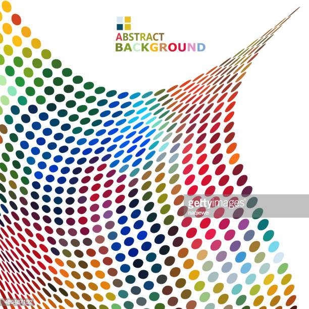 abstract color dots pattern background for design - polka dot stock illustrations