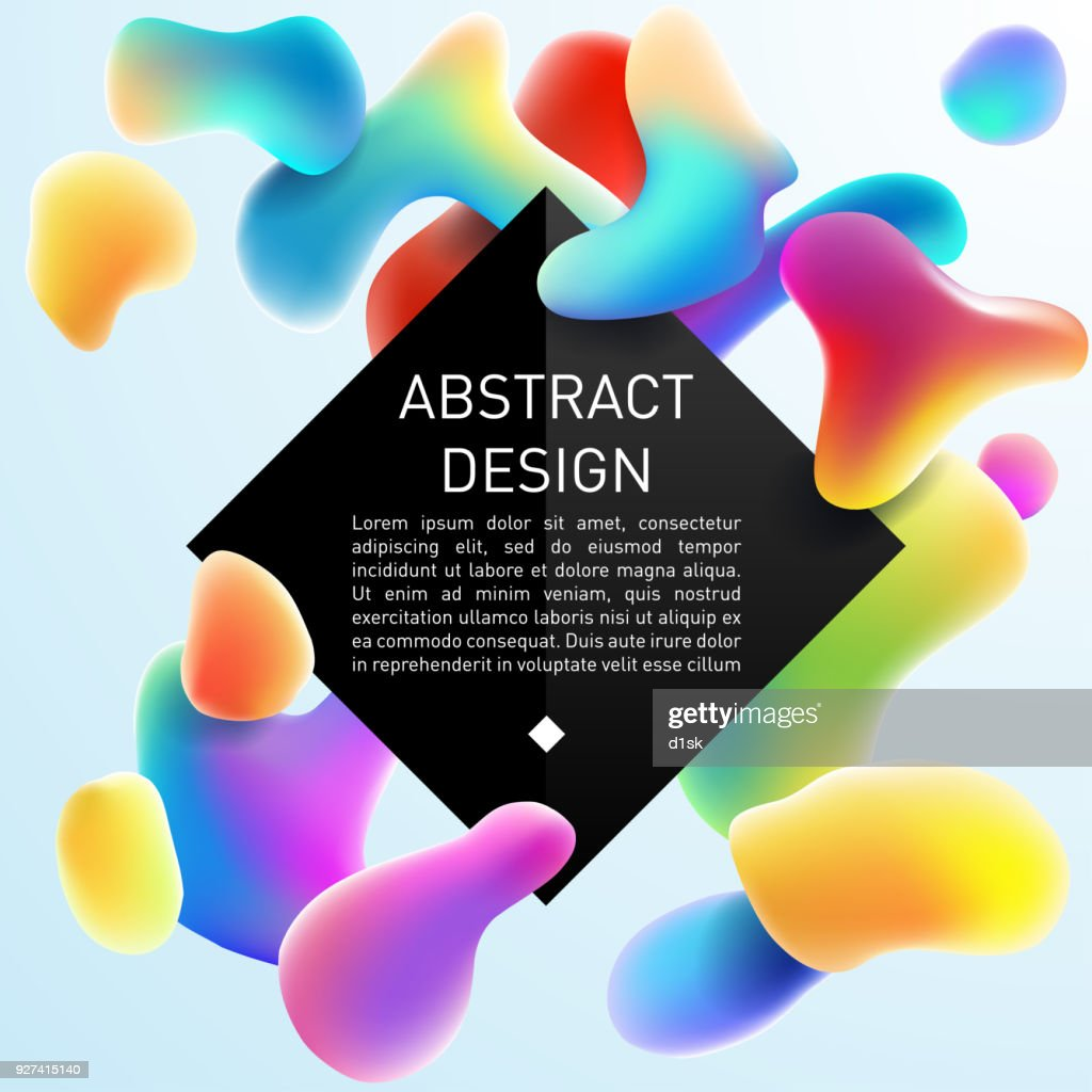Abstract color fluid design template