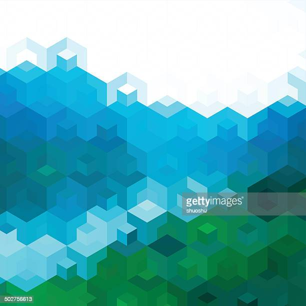 abstract color hexagon decoration pattern background