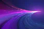 Abstract color light lines background
