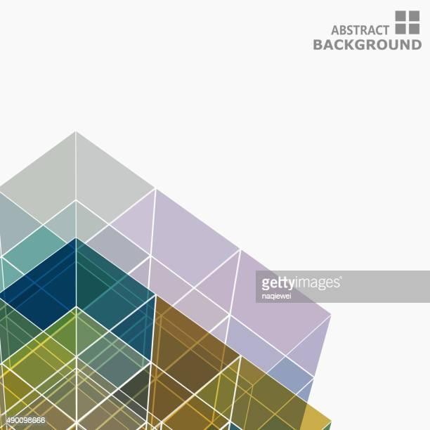 Ligne abstraite de couleur fond à motif