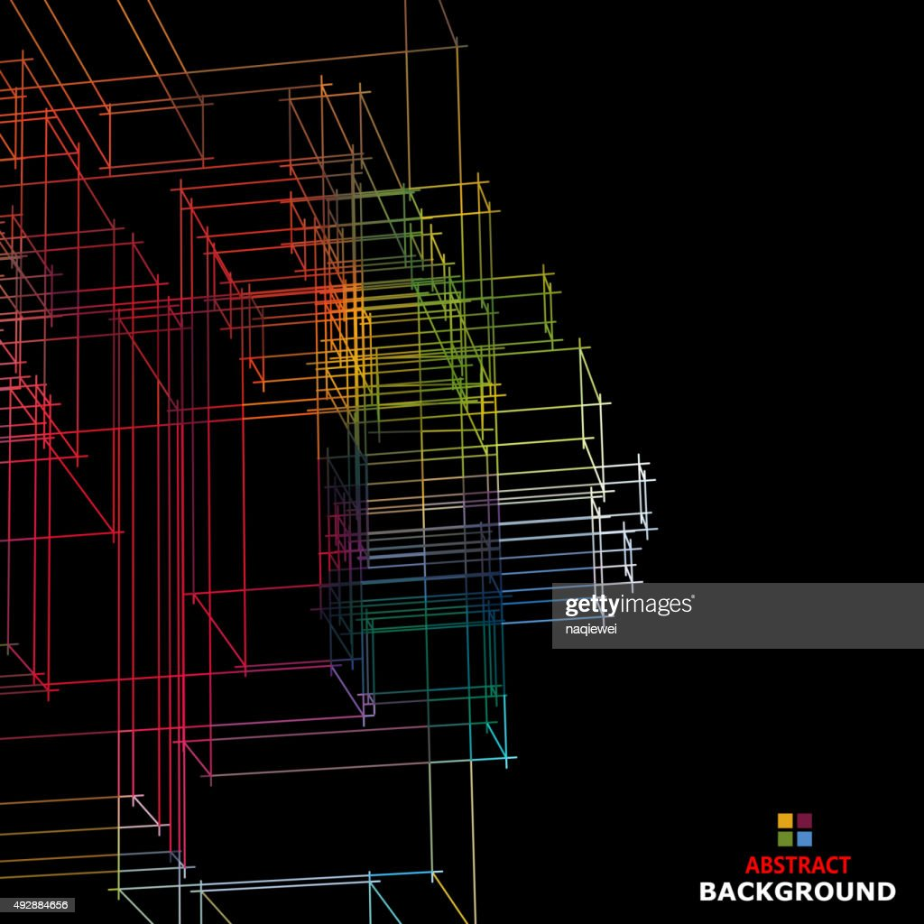 abstract color line structure pattern background