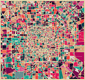 abstract color lump pattern,art map of Beijing city