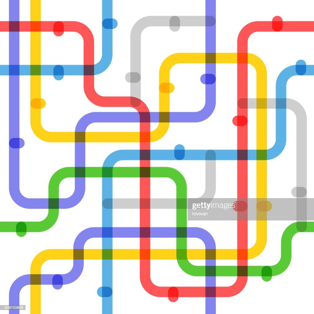 Abstract color metro scheme