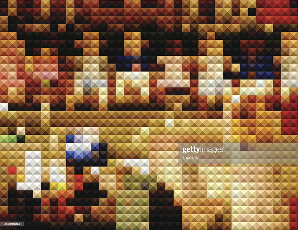 abstract color mosaic check pattern background