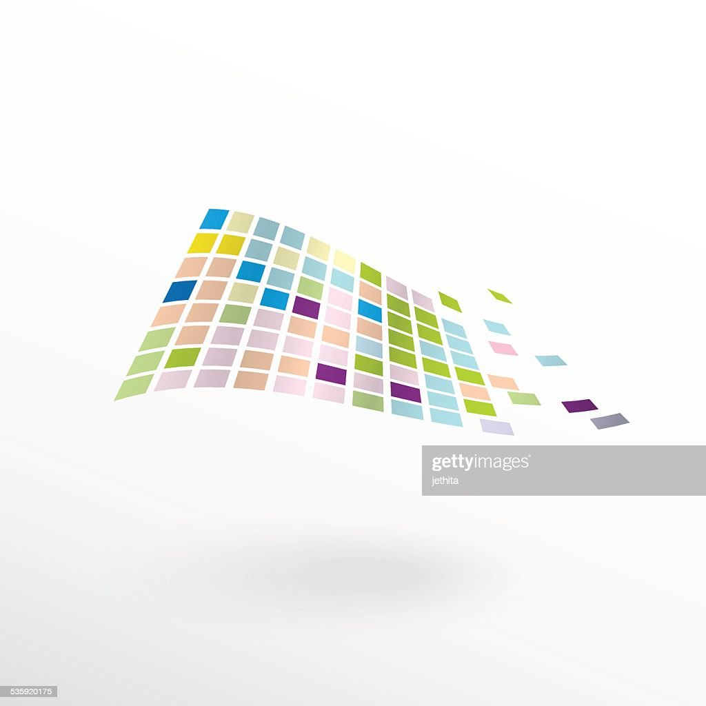 abstract color pixels floating : Vector Art