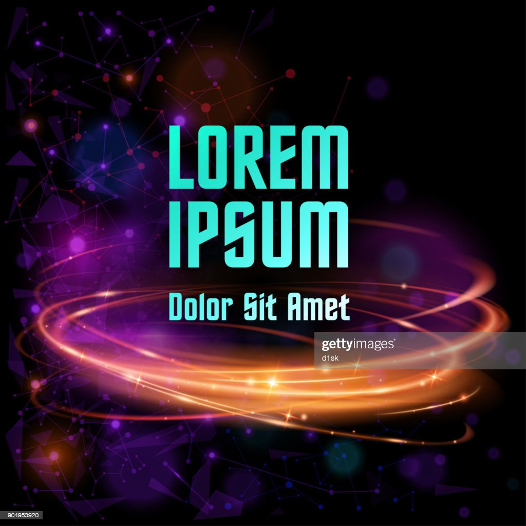 Abstract color poster template
