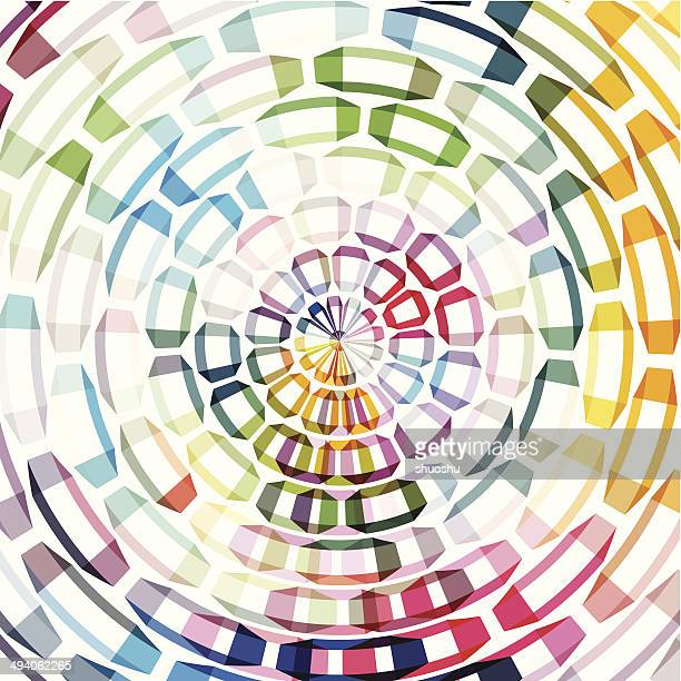 abstract color ring shape background