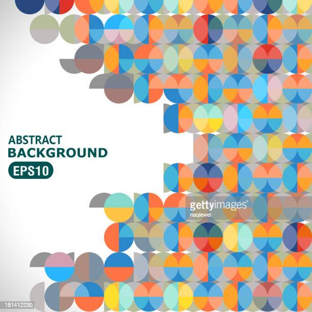 abstract color round pattern background - brightly lit stock illustrations