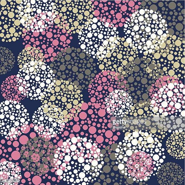 abstract color round pattern background - youth culture stock illustrations