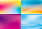 Abstract color summer background vector illustration