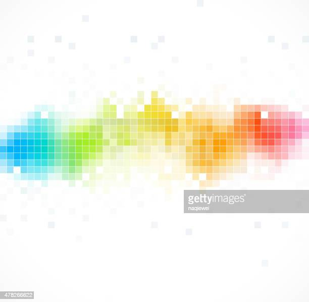 abstract color technology check pattern background
