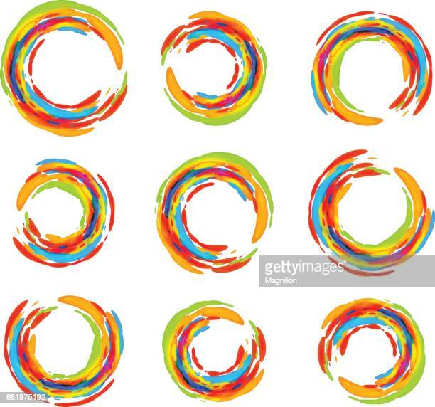 Abstract colored circles