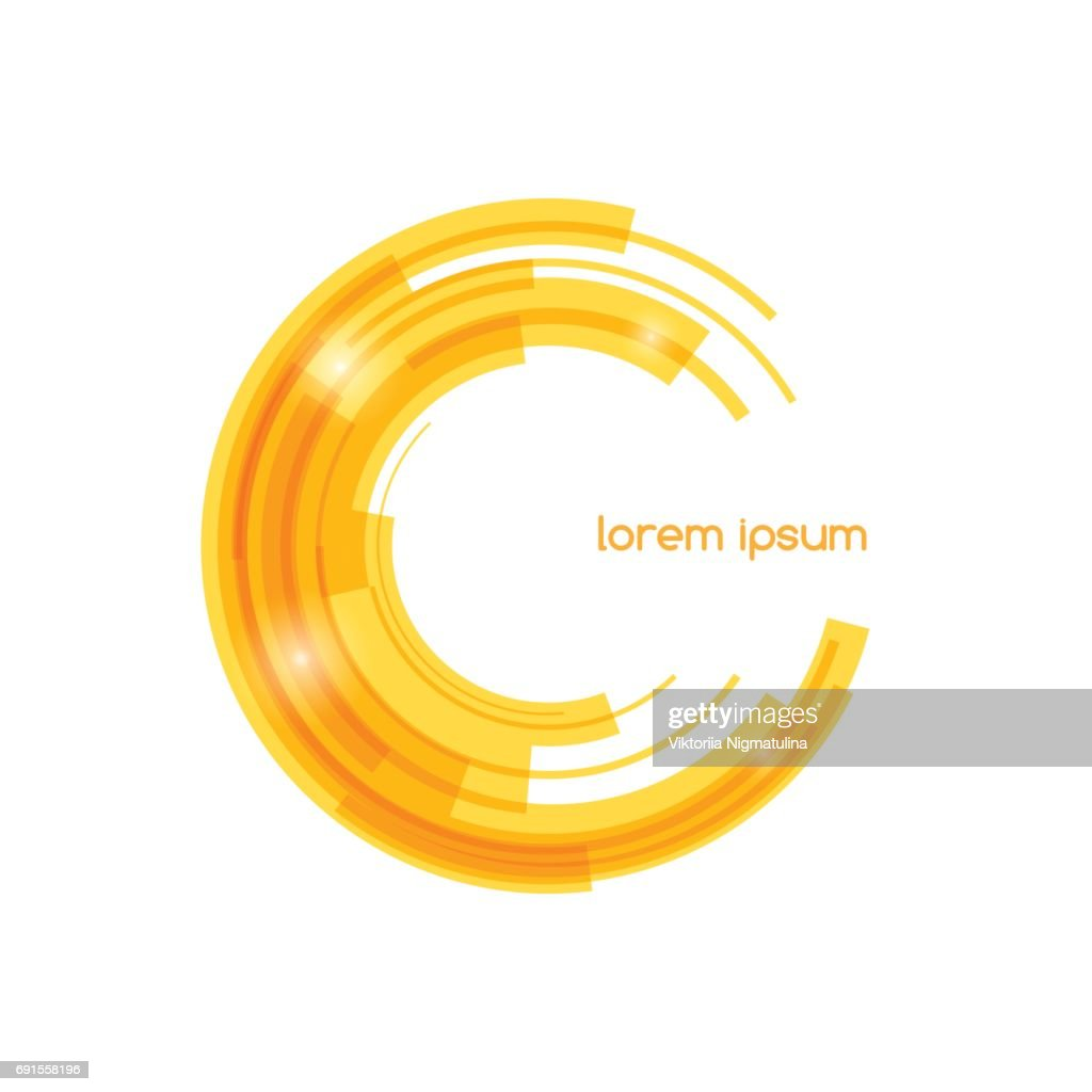 Abstract colored shape for your business idea. Vector editable illustration.