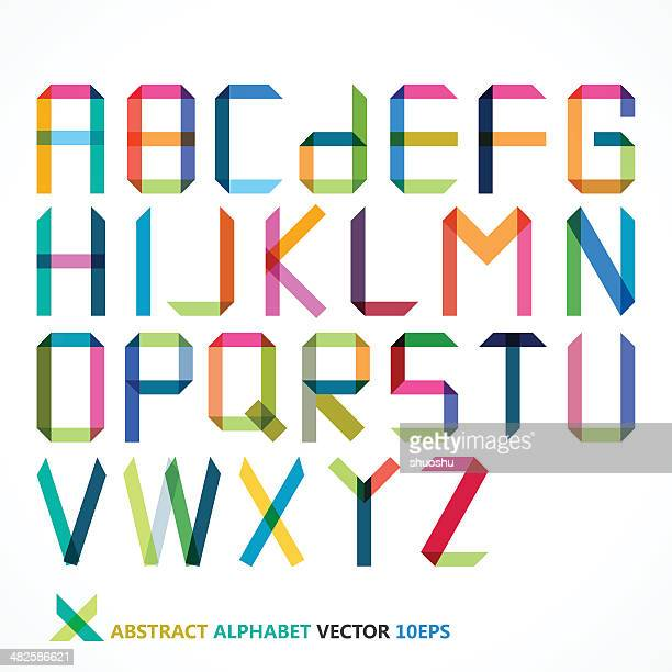 abstract colorful alphabet