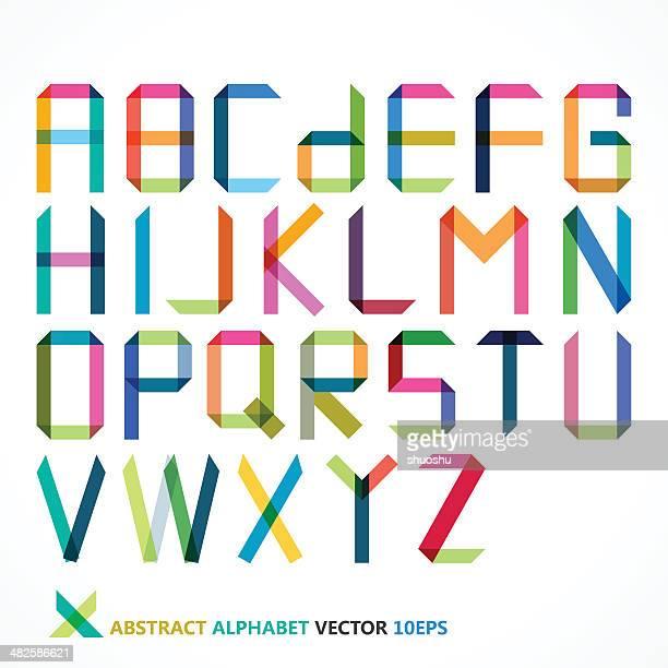Abstrakte bunte alphabet