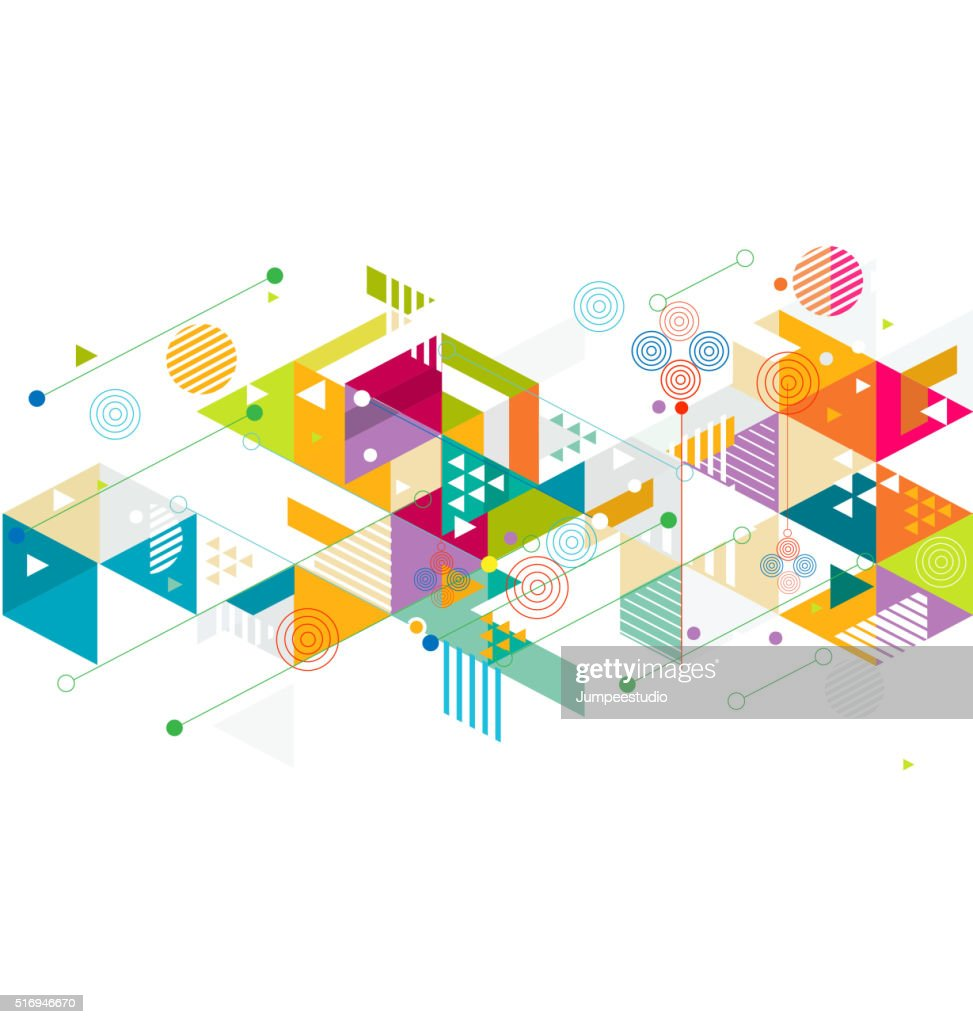 Abstract colorful and creative mix geometric background