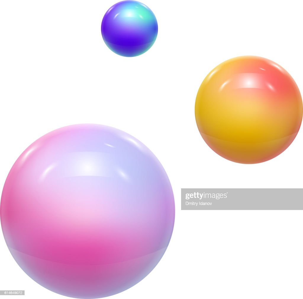 Abstract Colorful Balls or Spheres. Vector