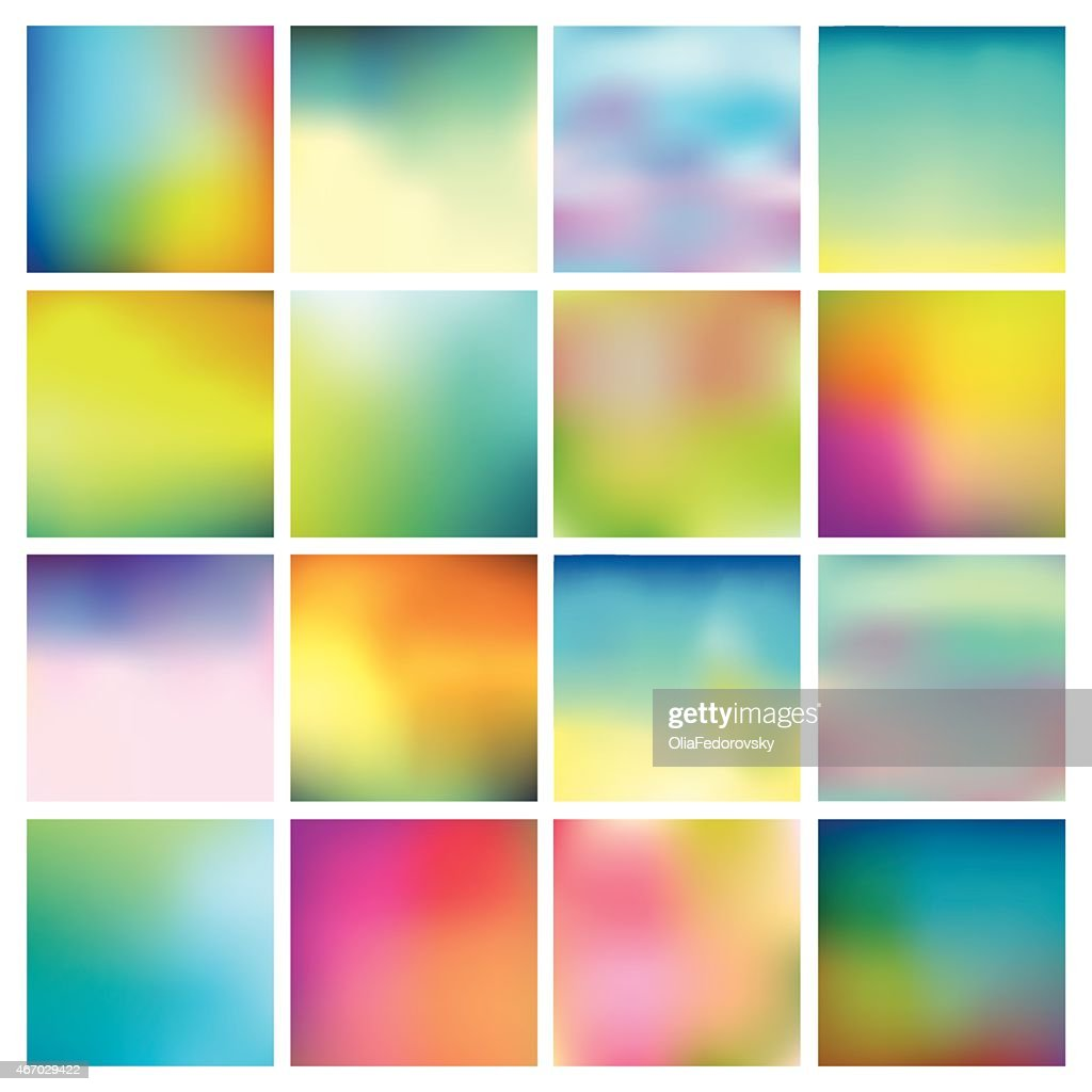 Abstract Colorful Blurred Backgrounds
