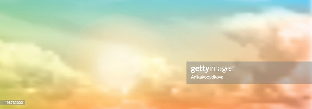 abstract colorful blurry background with clouds - illustration