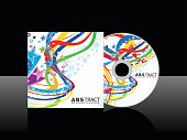 abstract colorful cd template