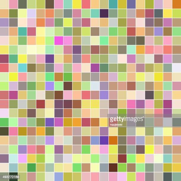 抽象的なカラフルなチェックパターン背景