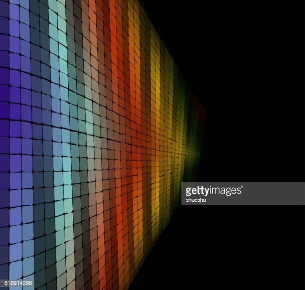 Abstrato colorido fundo de tecnologia padrão axadrezado