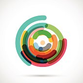 abstract colorful circle pattern for design