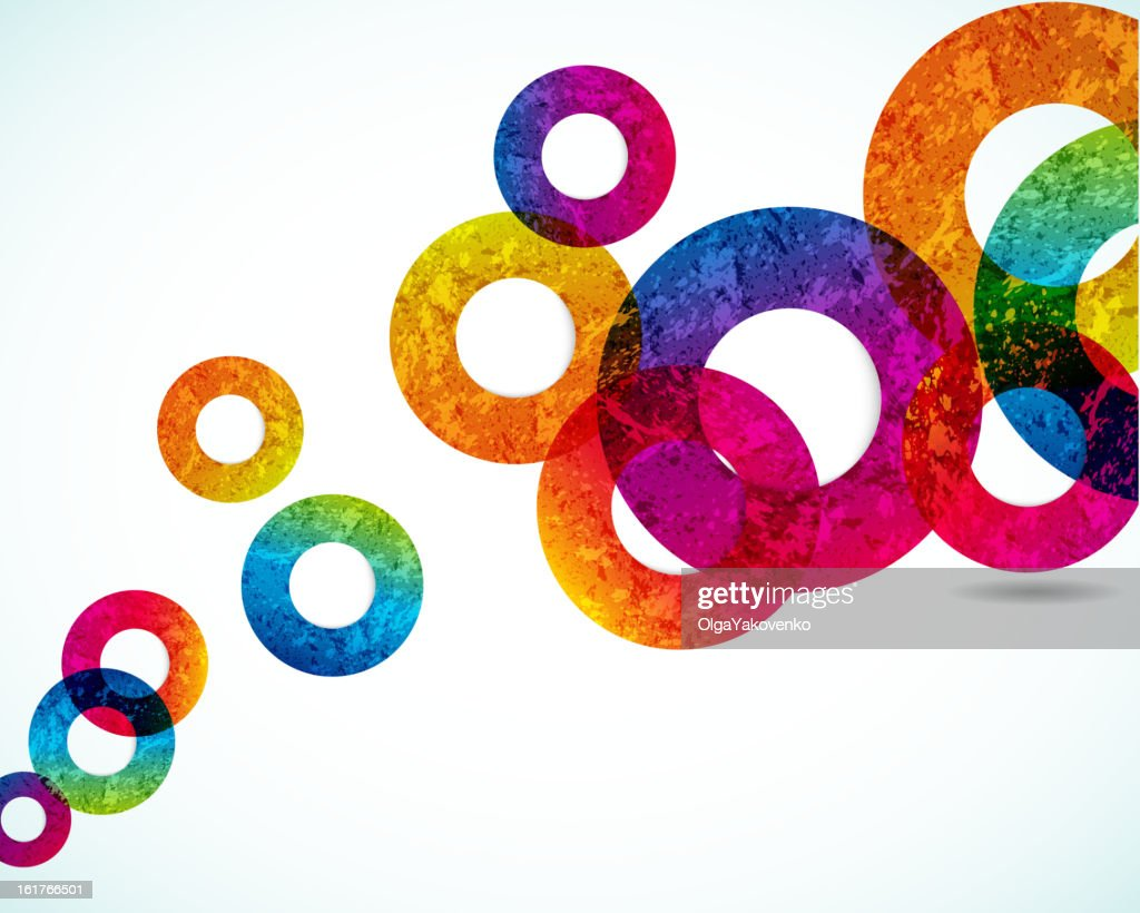 Abstract Colorful circles on a white background