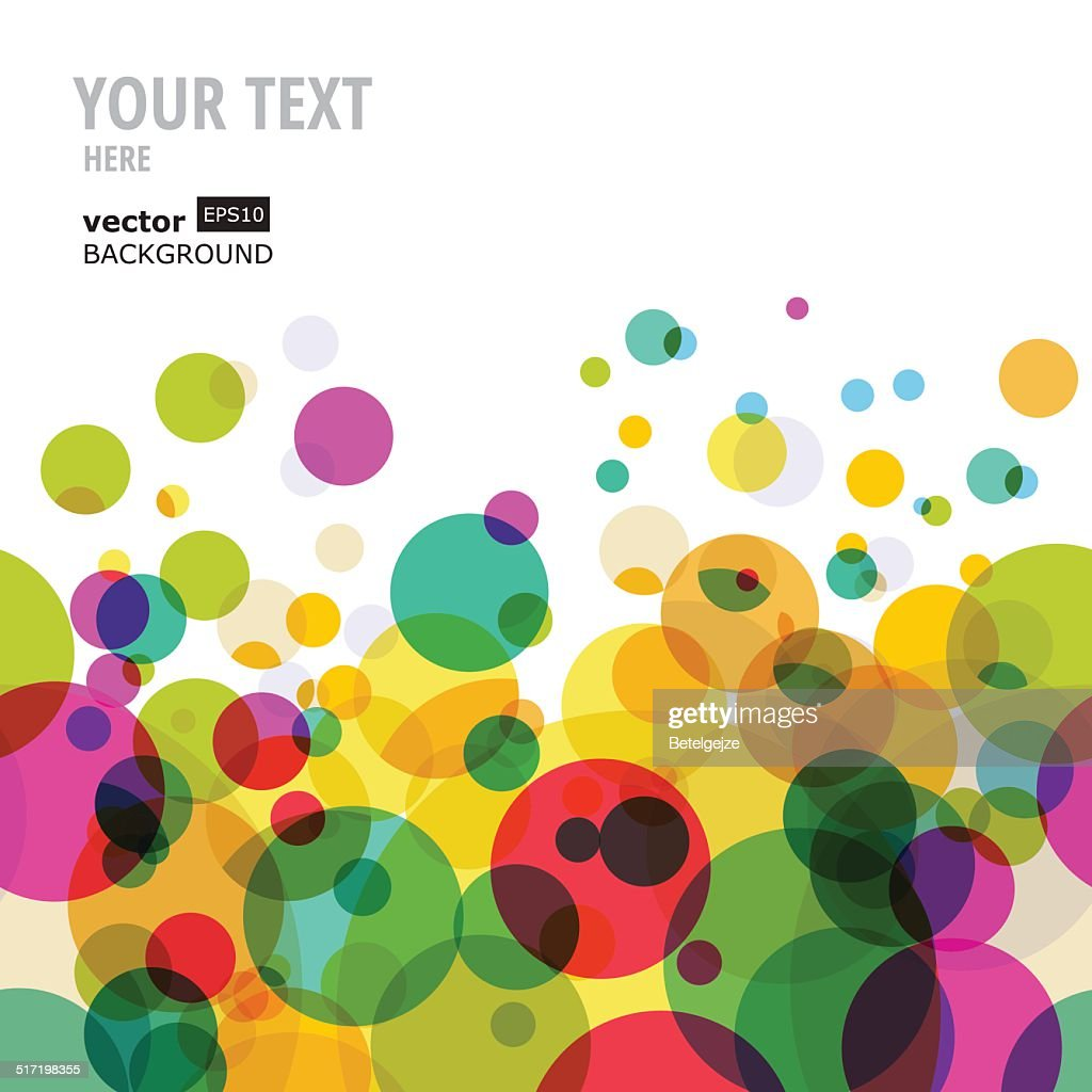 Abstract colorful circles pattern. Vector seamless background