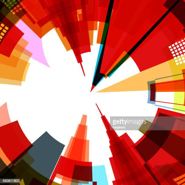 abstract colorful city pattern background