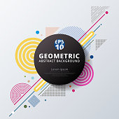 Abstract colorful color circle geometric pattern design and background. Use for modern design, cover, poster, template, decorated, brochure