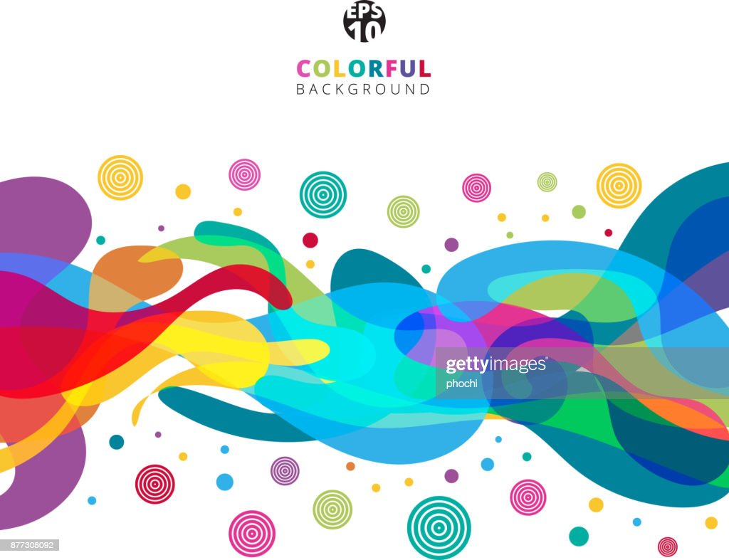 Abstract colorful color splash on white background with copy space.