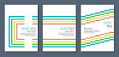 abstract colorful concentric lines, retro style simple covers mockup