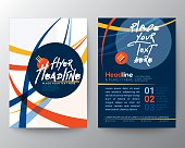 Abstract Colorful Curved Line shape Poster Brochure Flyer design